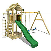 Wickey Captain`s Tower Climbing Frame With Green Slide