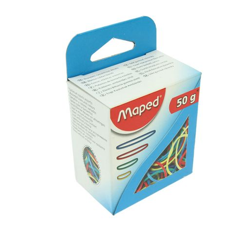 Maped Coloured Elastic Bands - 50gm