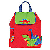 Children's Quilted Backpack - Red Dinosaurs