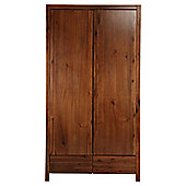 Anisha 2 Door Wardrobe, Solid Wood