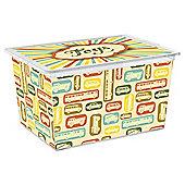 Tesco 50L Toys Storage Box With Car Design