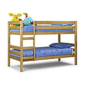 Happy Beds Wyoming 3ft Pine Wood Bunk Bed 2x Spring Mattress