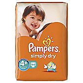 Pampers Simply Dry Size 4+ Large Pack - 44 nappies