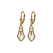 QP Jewellers 1.25ct White Topaz Glitz Leverback Earrings in 14K Rose Gold
