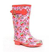 Brantano Girls Fruit Wellington Boots - Pink