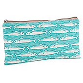 Turquoise Fish Make Up Bag