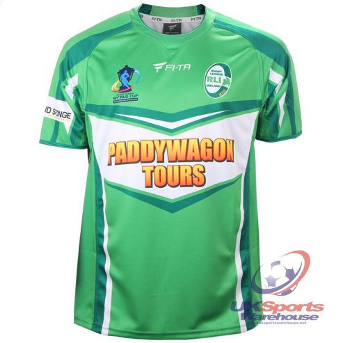 Official Ireland Rugby League World Cup 2013 Team Rugby Jersey Shirt - Green