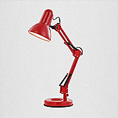 Home Essence Famous One Light 60W Table Lamp - Red