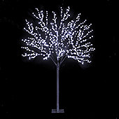Snowtime 2-Size Globe Tree - Ice White - 220 cm H