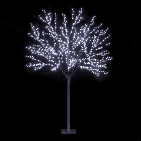 Snowtime 2-Size Globe Tree - Ice White - 220 cm H
