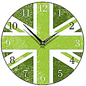 Smith & Taylor Union Jack Round Wall Clock in Green