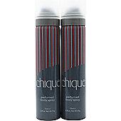 Yardley Chique Body Spray 2x 75ml For Women