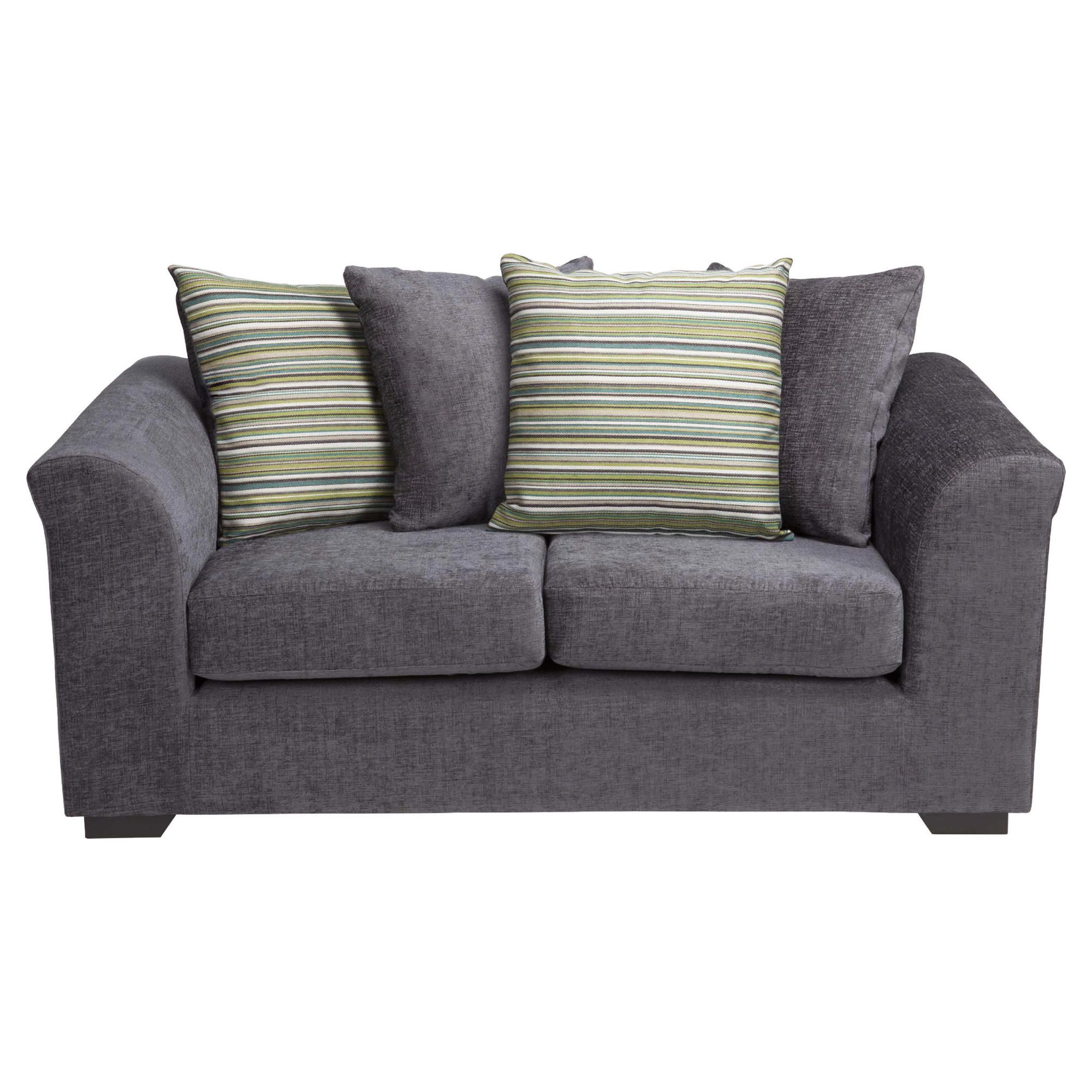 Tesco Direct Toronto Fabric Small Sofa Charcoal
