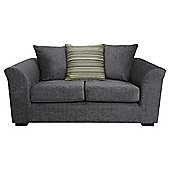 Toronto Fabric Small Sofa Charcoal
