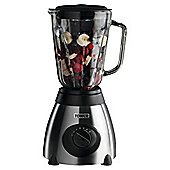 Tower T12008 Glass Jar Blender with Grinder - Silver and Black