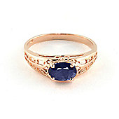 QP Jewellers 1.15ct Sapphire Catalan Filigree Ring in 14K Rose Gold