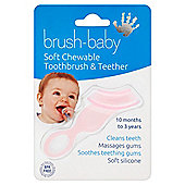 Brush-Baby Soft Chewable Baby Toothbrush - Pink