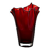 Linea Red Handkerchief Vase