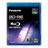 LMBEU25AE2 2 Pack 25GB Re-Writable Blu-ray Disc for HD Video Recording