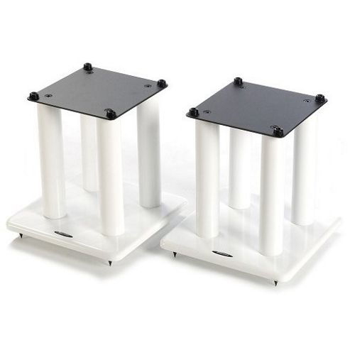 Atacama Pair of Speaker Stands in White - Height 300mm