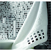 Catherine Lansfield Bathroom mosaic bath sheet, 90x140, white