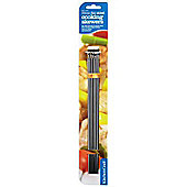 Kitchen Craft 30cm Stainless Steel Flat Sided Skewers Pack of 6