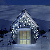 16m Set 700 Ice White Snowing Icicle LED Lights