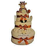 Unisex Giraffe Baby Nappy Cake (Three tier)