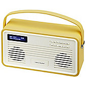 VIEW QUEST RETRO COLOURGEN DAB+/FM RADIO WITH IPOD DOCK (8 PIN, MUSTARD)
