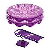 Mastrad TopChips Microwave Crisp Maker Set with Food Slicer, Purple