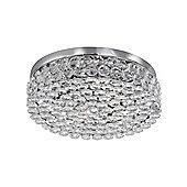 Modern Crystal Flush Ceiling Light