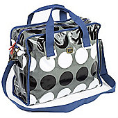 Caboodle Fun & Funky Changing Bag (Dark Grey Spot with Blue Trim)