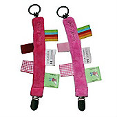 Label Label Pacifier Clip (Pink)