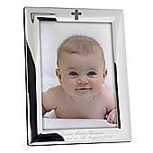 Personalised Elegant Cross Photo Frame