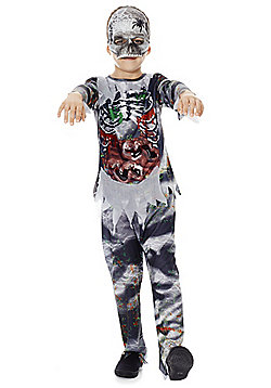 F&F Halloween Zombie Dress-Up Costume - Grey & Multi