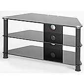 "Jual Furnishings 42"" Corner TV Stand - Black / Black"