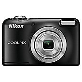 "Nikon Coolpix L29 Digital Camera, Black, 16MP, 5x Optical Zoom, 2.7"" LCD Screen"