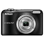 "Nikon Coolpix L29 Digital Camera, Black, 16MP, 5x Optical Zoom, 2.7"" LCD Screen"