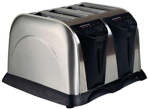 Sabichi Four Slice Stainless Steel Toaster