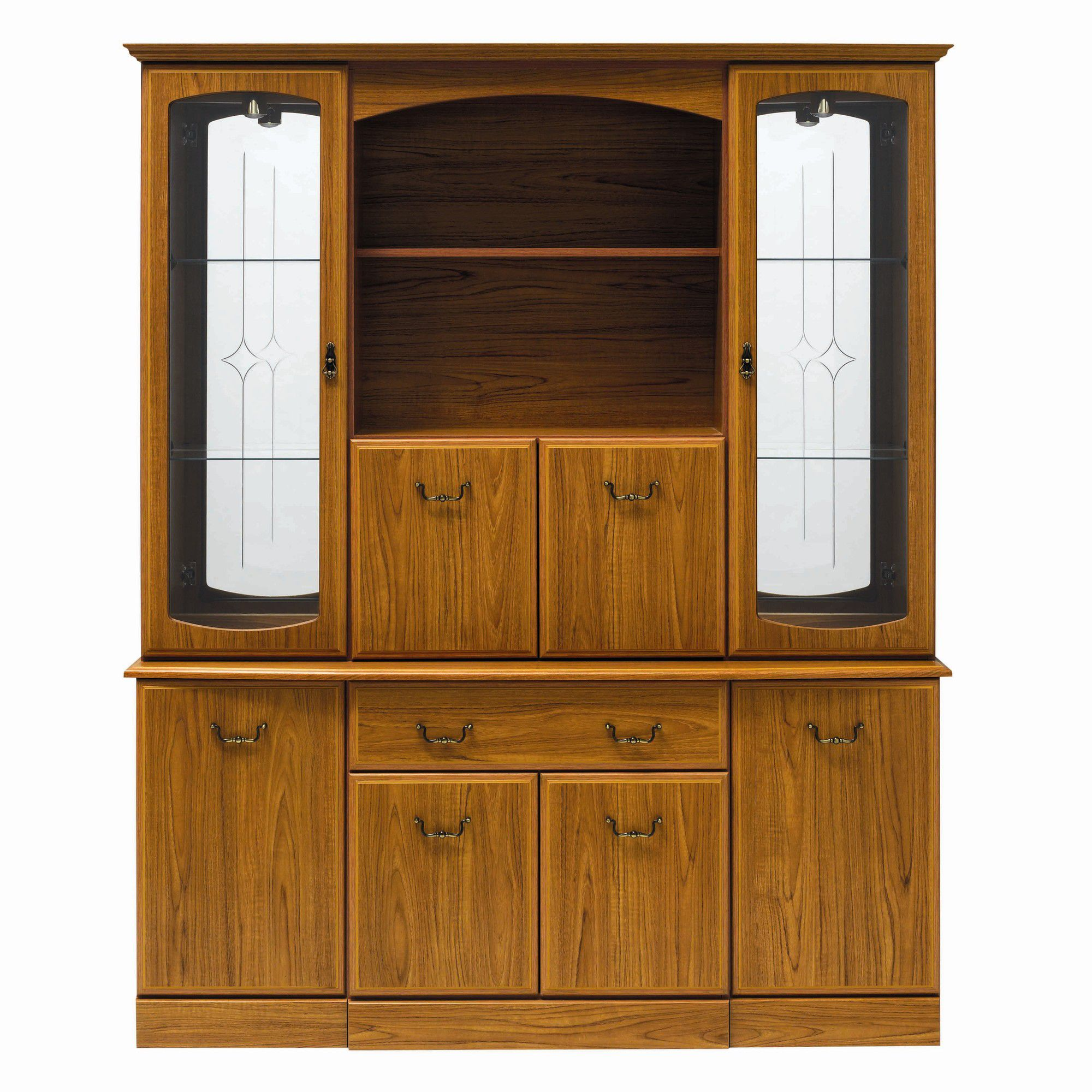 Caxton Tennyson 152 cm Display Cabinet in Teak at Tesco Direct