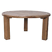 Furniture Link Danube Round Table in Weathered Solid Oak - 156cm