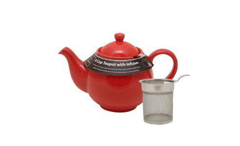 Price & Kensington Bright Red, 6 cup / 1200ml, Filter Teapot