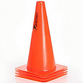 "Precision Training 12"" Traffic Cones (Set of 4) Ideal For All Sports"