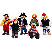 Bigjigs Toys JT126 Heritage Playset Pirates Set