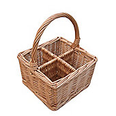 Wicker Valley Willow Cutlery and Glass Basket