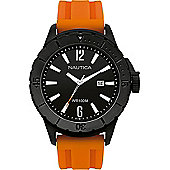 Nautica Gents Orange Rubber Strap Watch A15602