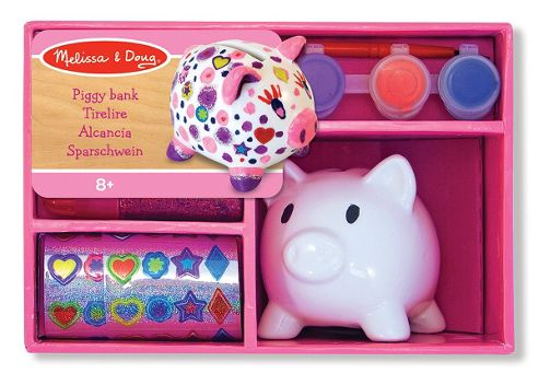Melissa & Doug Decorate Your Own Porcelain Piggy Bank