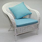 Rattan Armchair, White