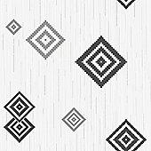 Muriva Eton Motif Wallpaper - Black