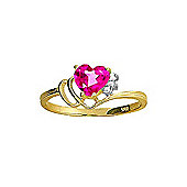 QP Jewellers Diamond & Pink Topaz Passion Heart Ring in 14K Gold